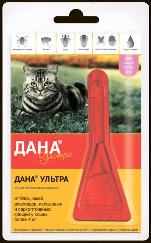 Dana ® Ultra 4 kg dan ortiq mushuklar va mushukchalar uchun